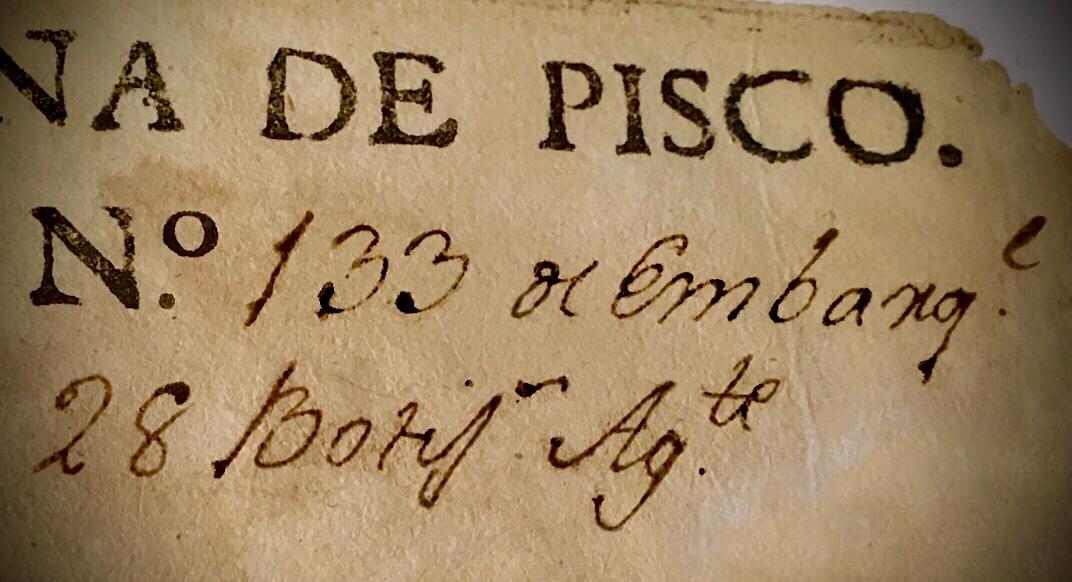 Botijas de Pisco, 1597 –1655